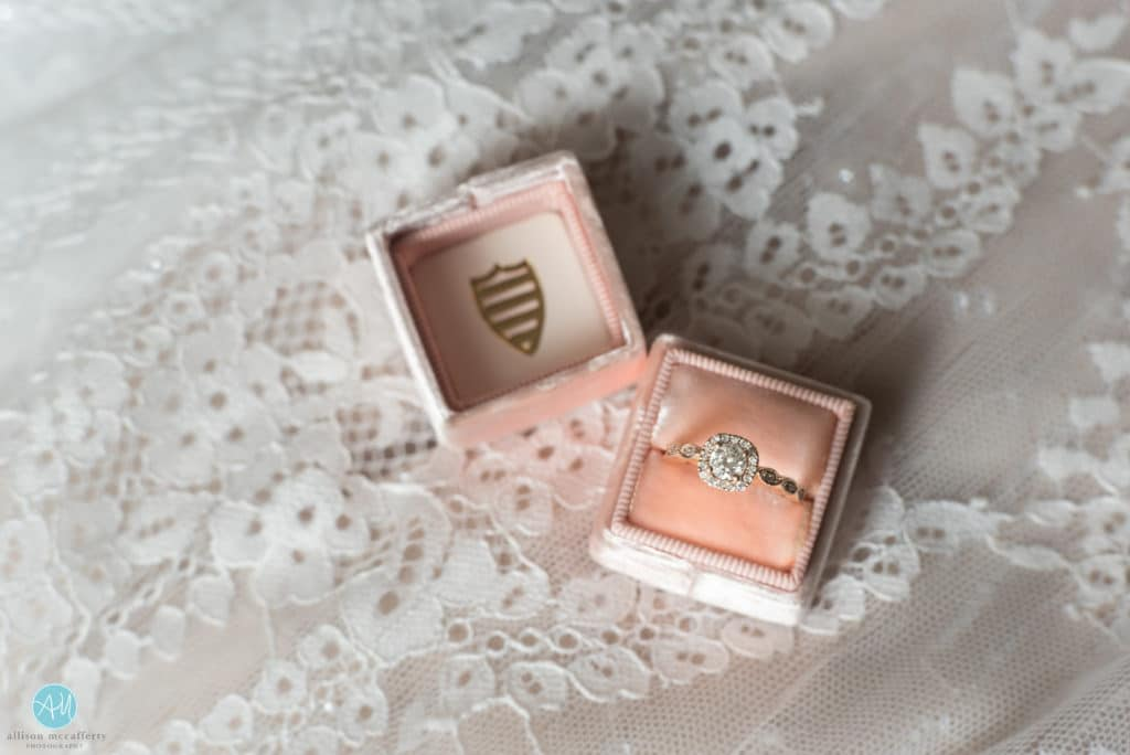 rose gold ring in a mrs. box