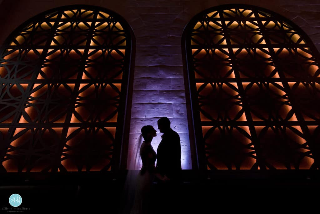 wedding couple silhouette photo