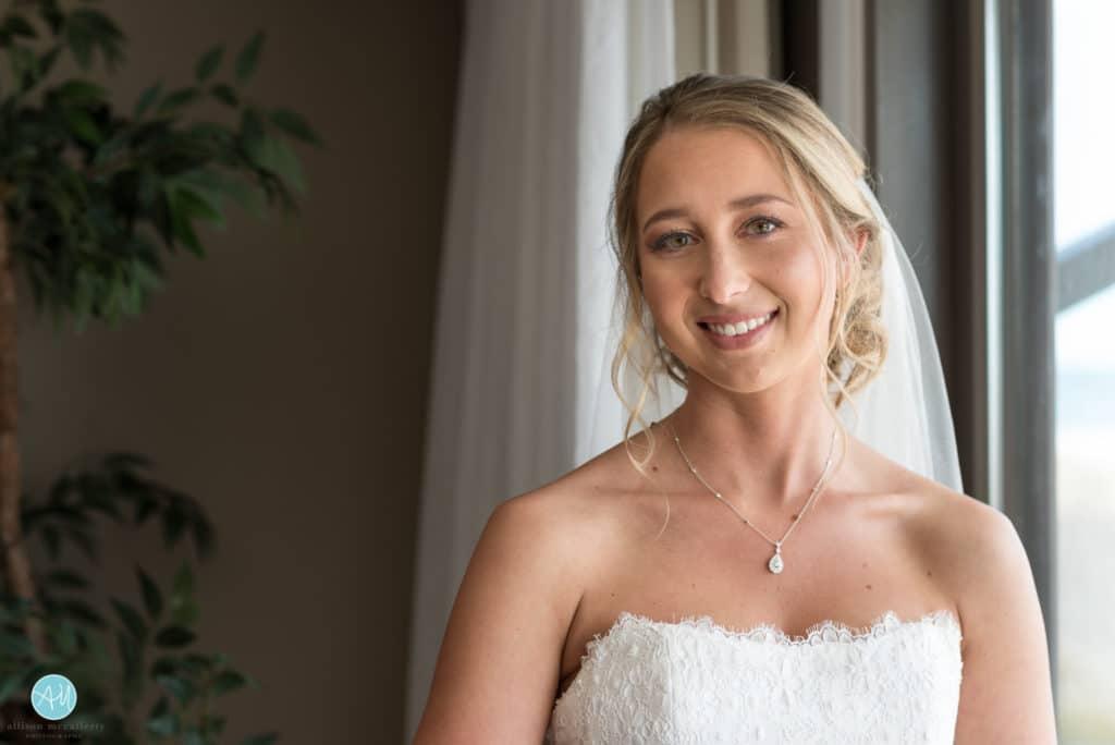 bride portrait by window
