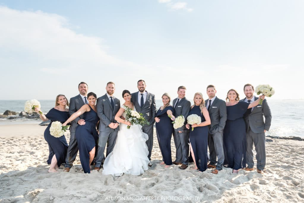 Wedding Party on the beach in Cape May NJ