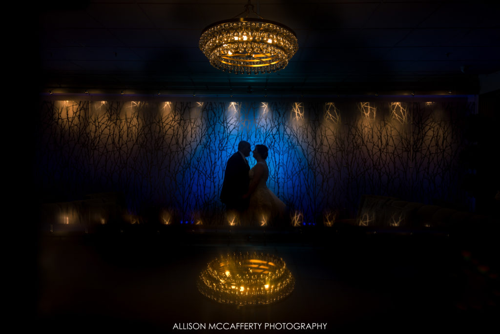 Unique wedding portrait in Springfield Country Club