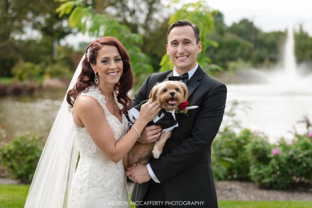 Dog Wedding photos at Park Chateau