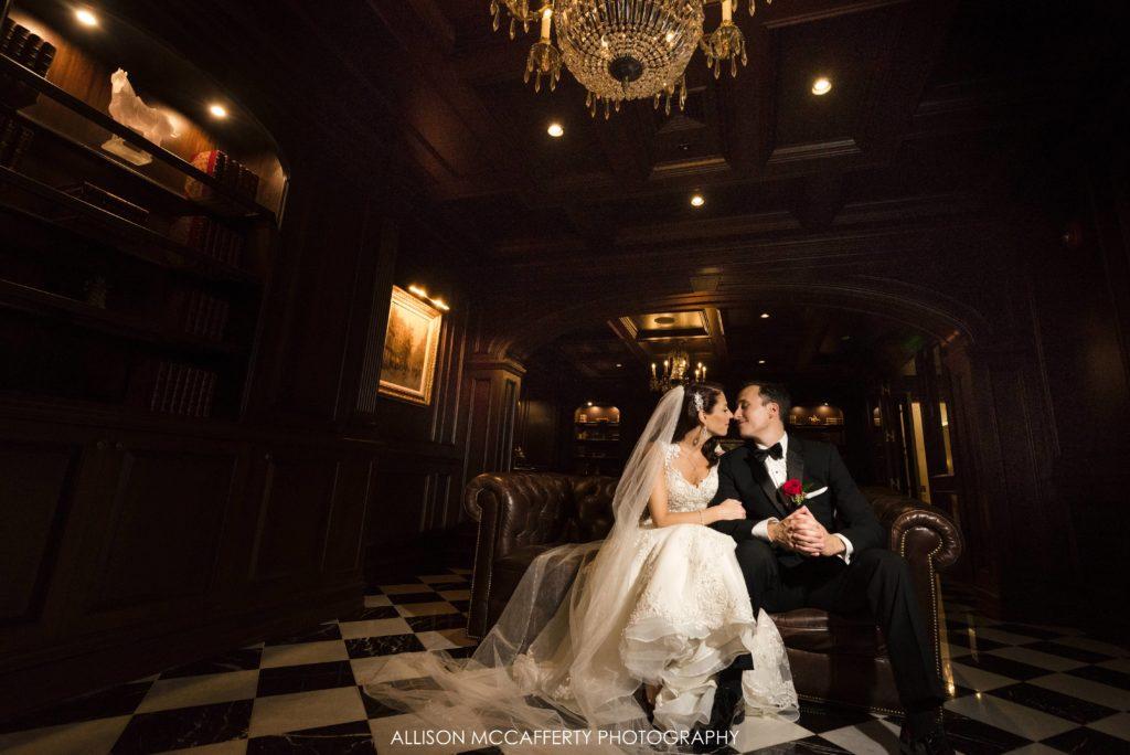 Park Chateau library wedding photos