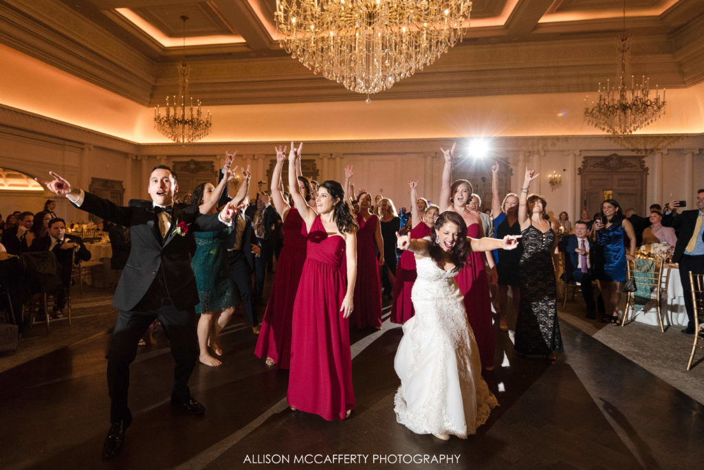 Flash mob at a wedding at the Park Chateau