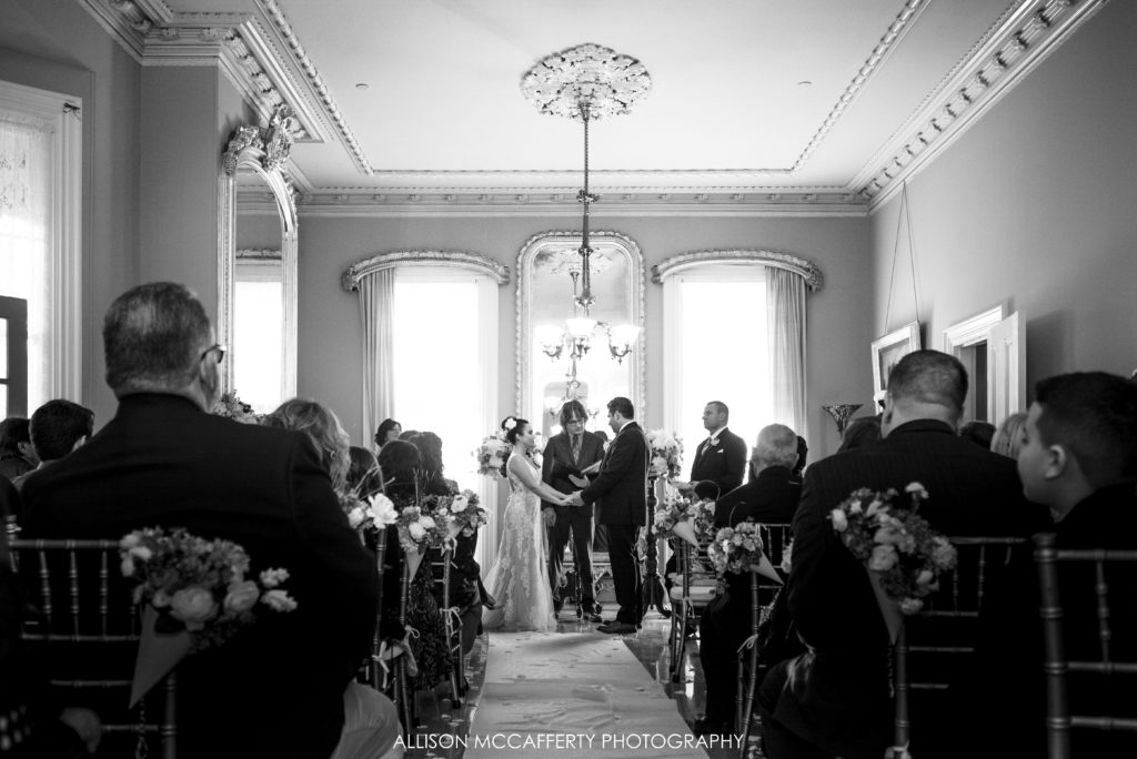 Indoor Wedding Ceremony at the Southern Mansion Cape May