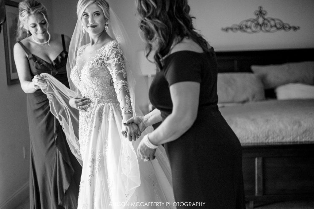 Black and White wedding photography NJ