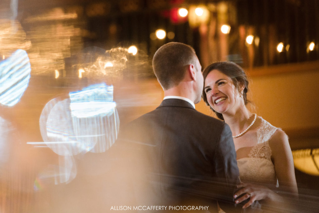 First dance at Collingswood Grand Ballroom wedding reception