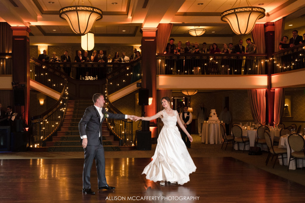 First dance at Collingswood Ballroom