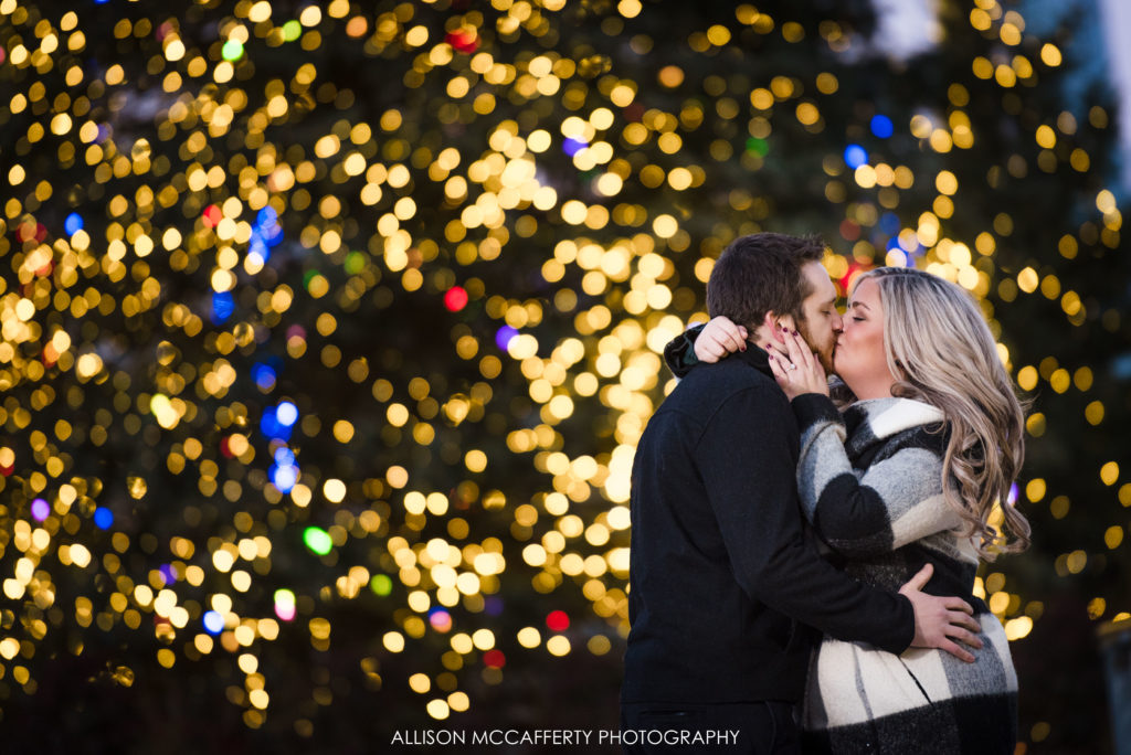 Christmas Engagement Photos Philly