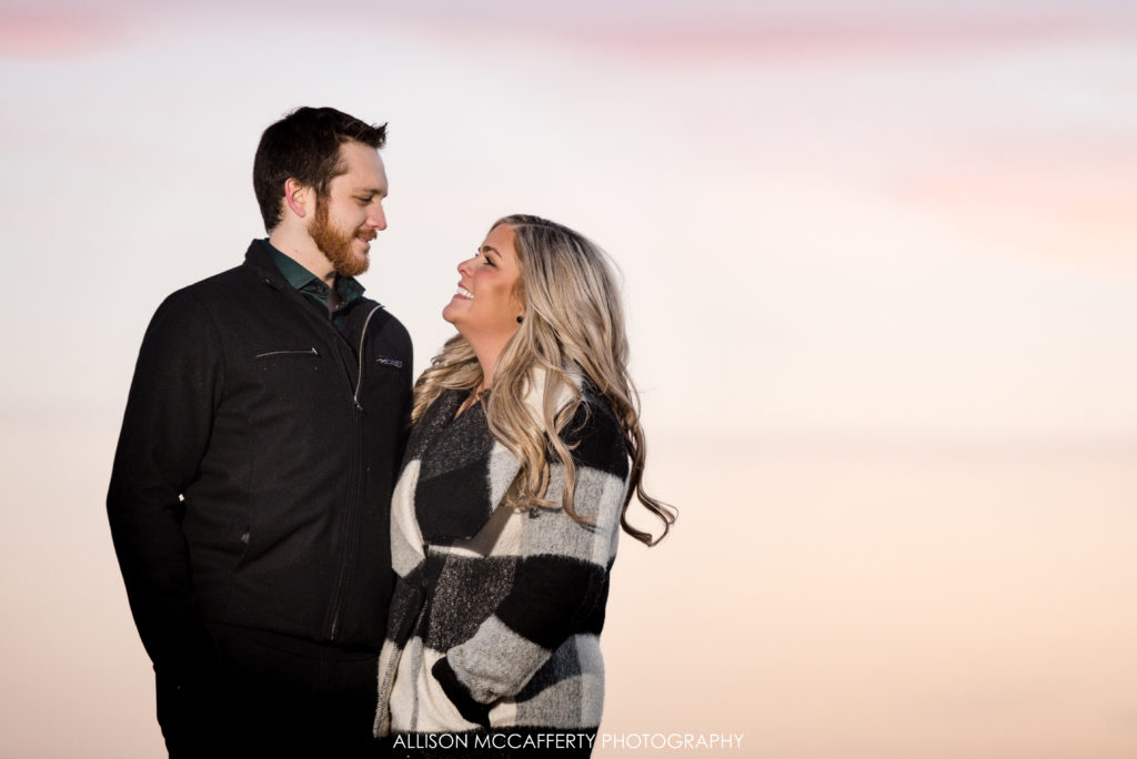 Penns Landing Sunset Engagement Photos
