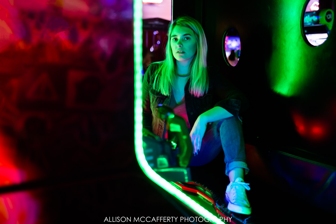 Fun Portrait Shoot at Dave & Busters Philadelphia