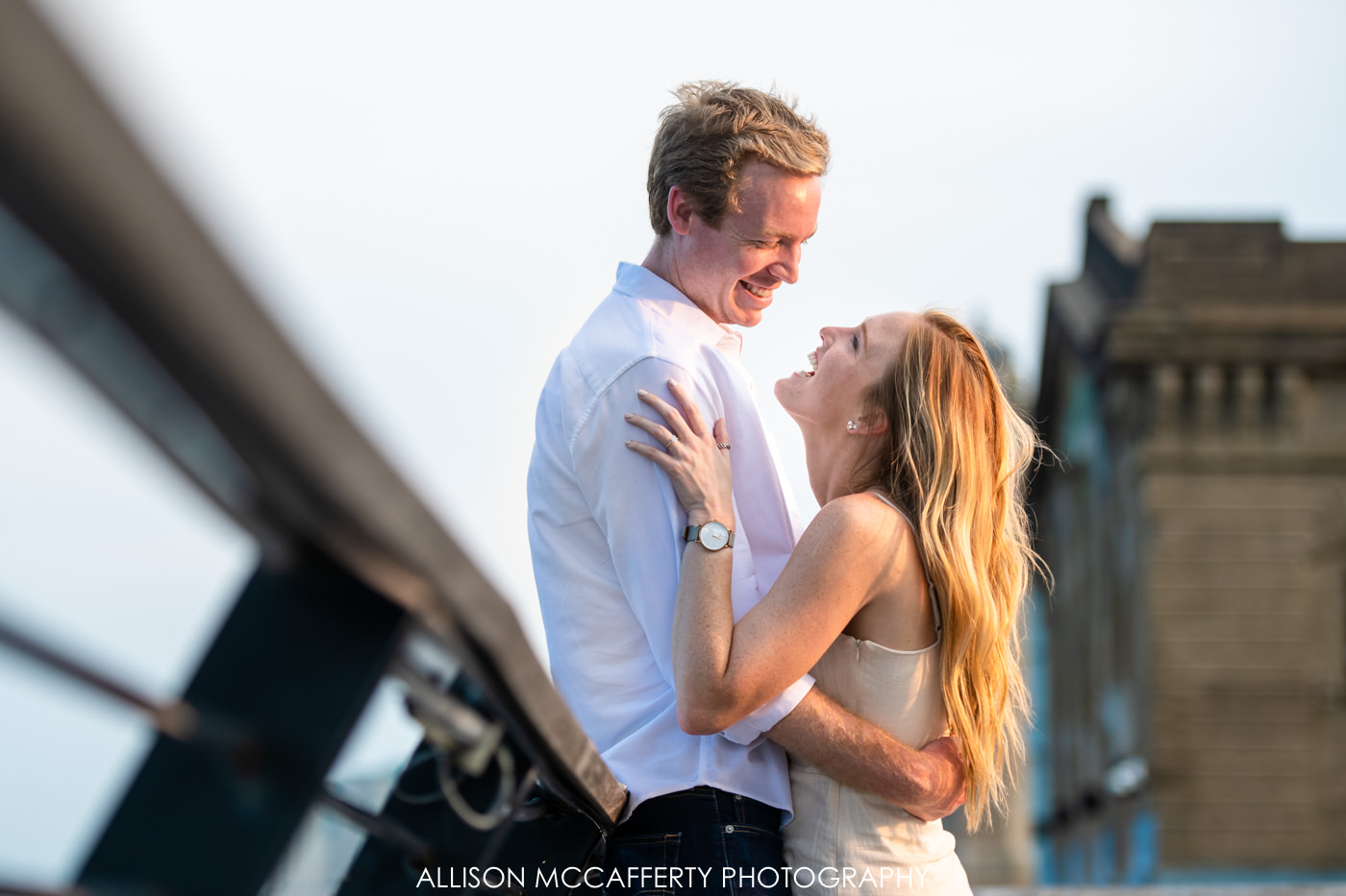 Happy Engagement Photo in Philadelphia