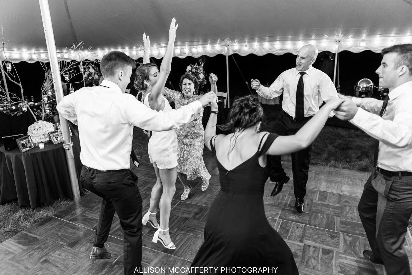 Wedding Dancing Photo in Black and White in NJ