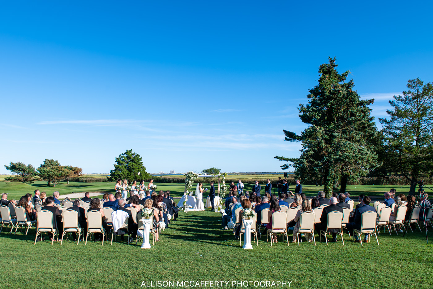 Linwood Country Club Outdoor Wedding Venue