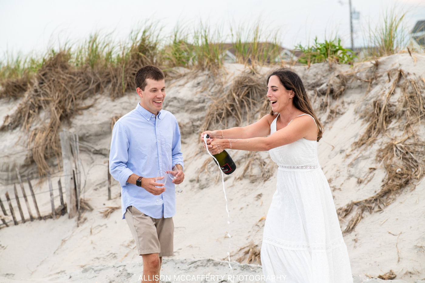 Ocean City NJ Beach Engagement Photo