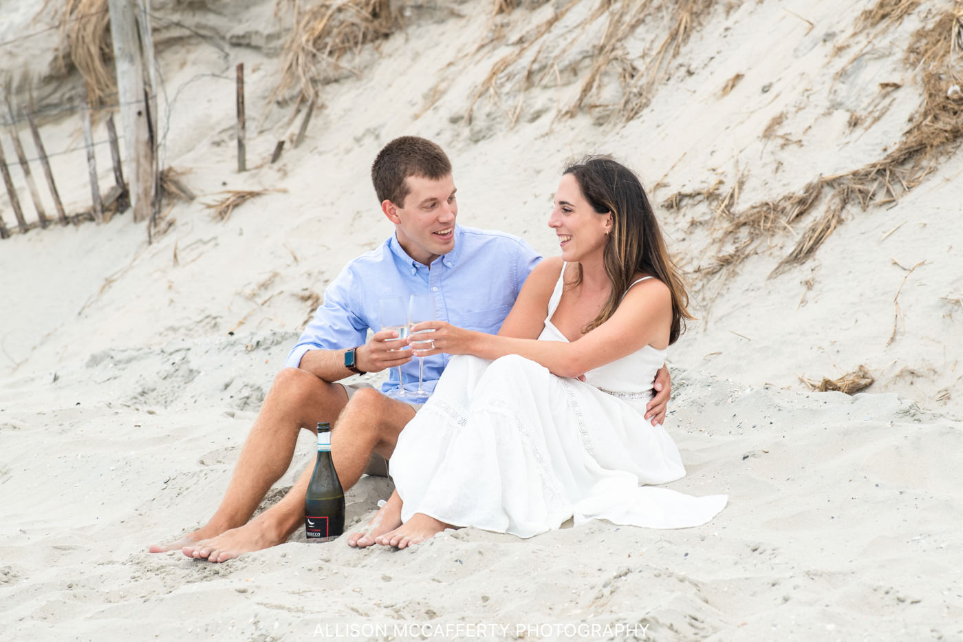 Ocean City NJ Beach Engagement Photographer
