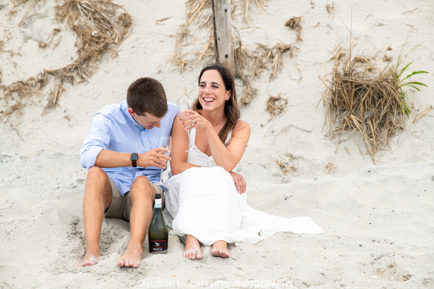 Ocean City NJ Beach Engagement Picture