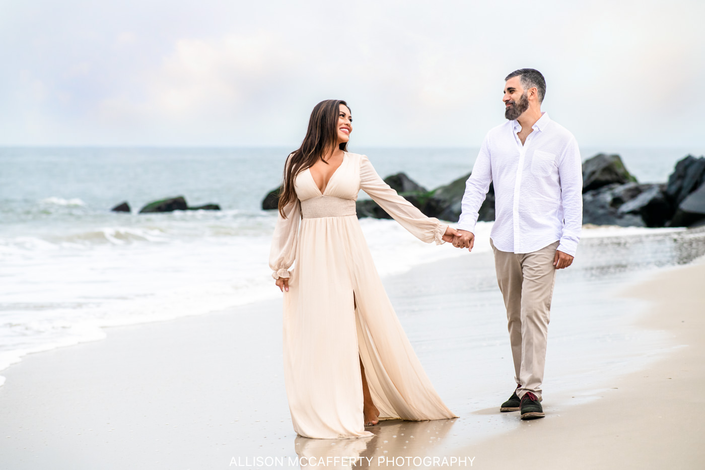 Cape May Engagement Session Beach Photo