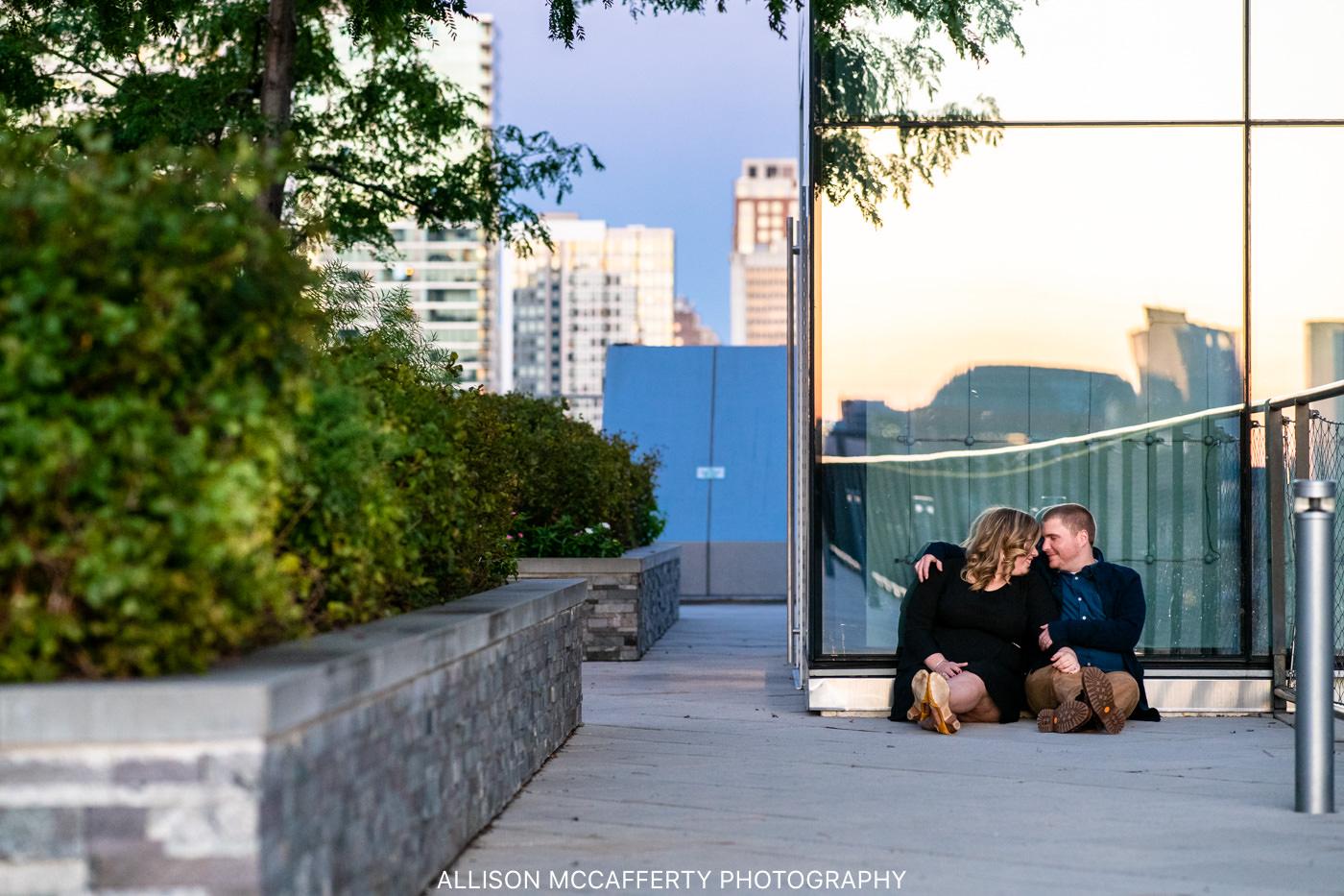 Cira Green Philly Sunset Engagement