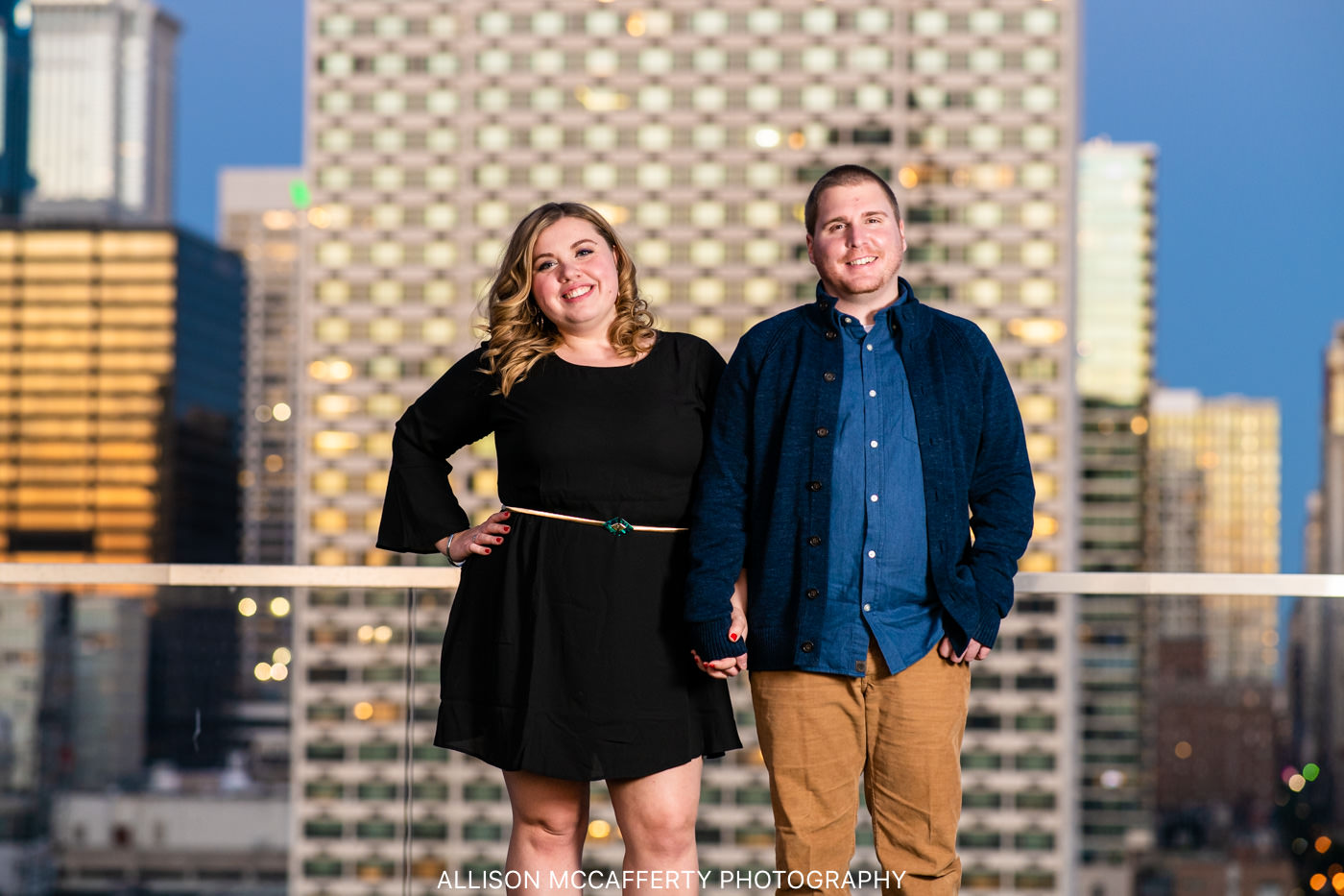 Philly Night Engagement Session