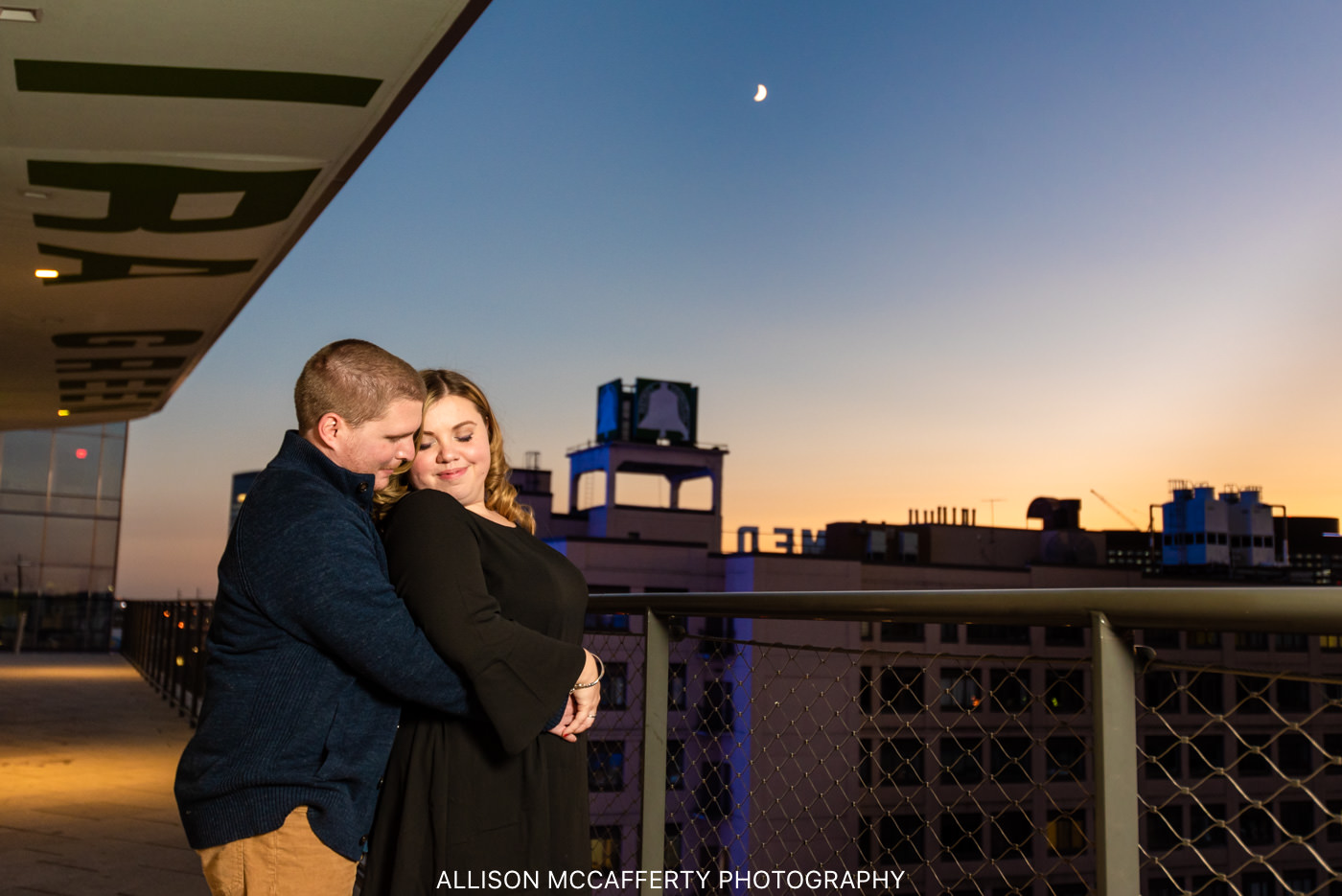 Philly City Light Engagement Photos