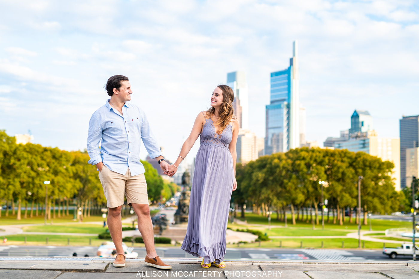 Philadelphia Museum of Art Engagement Session Photo