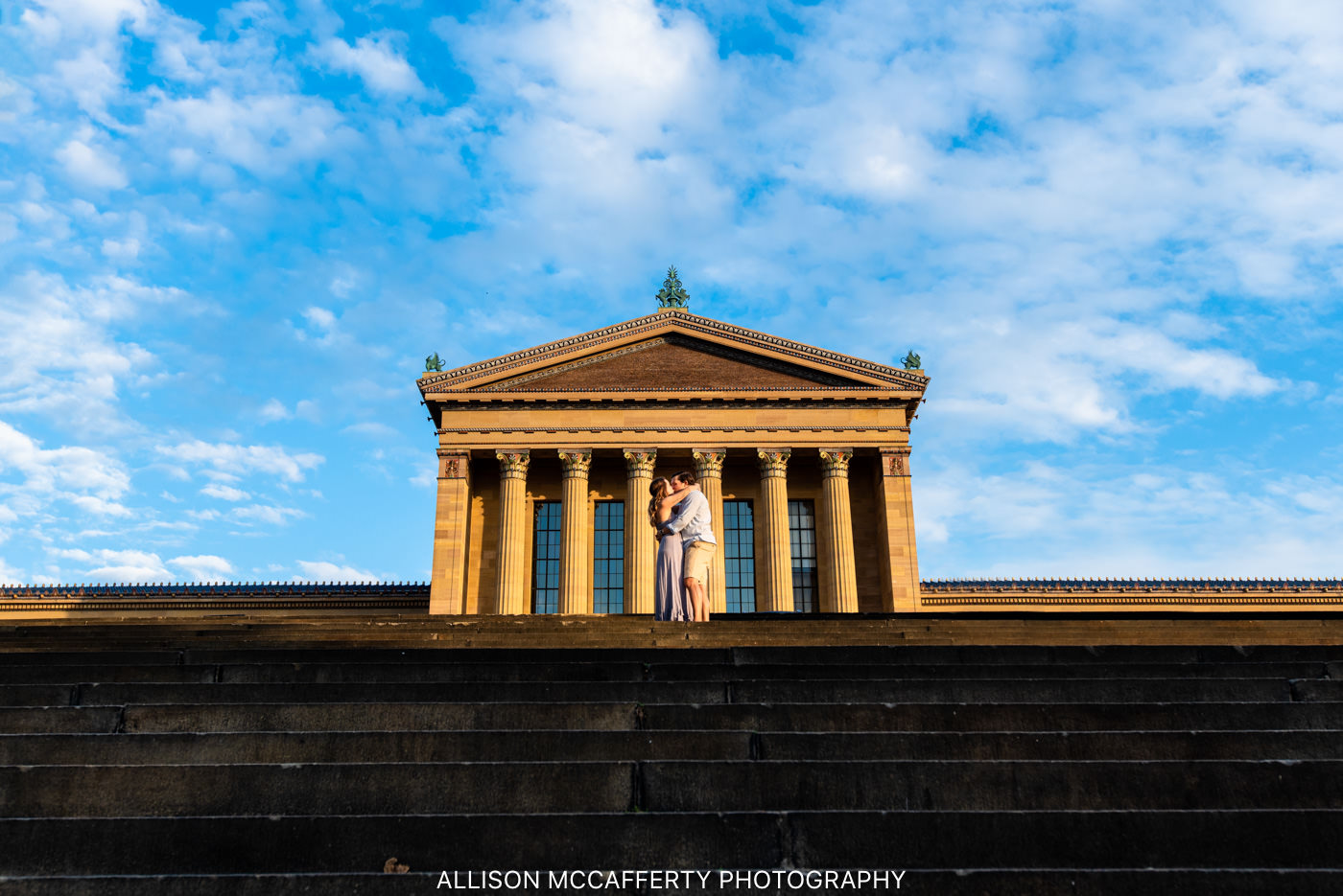 Philadelphia Museum of Art Engagement Session Photos