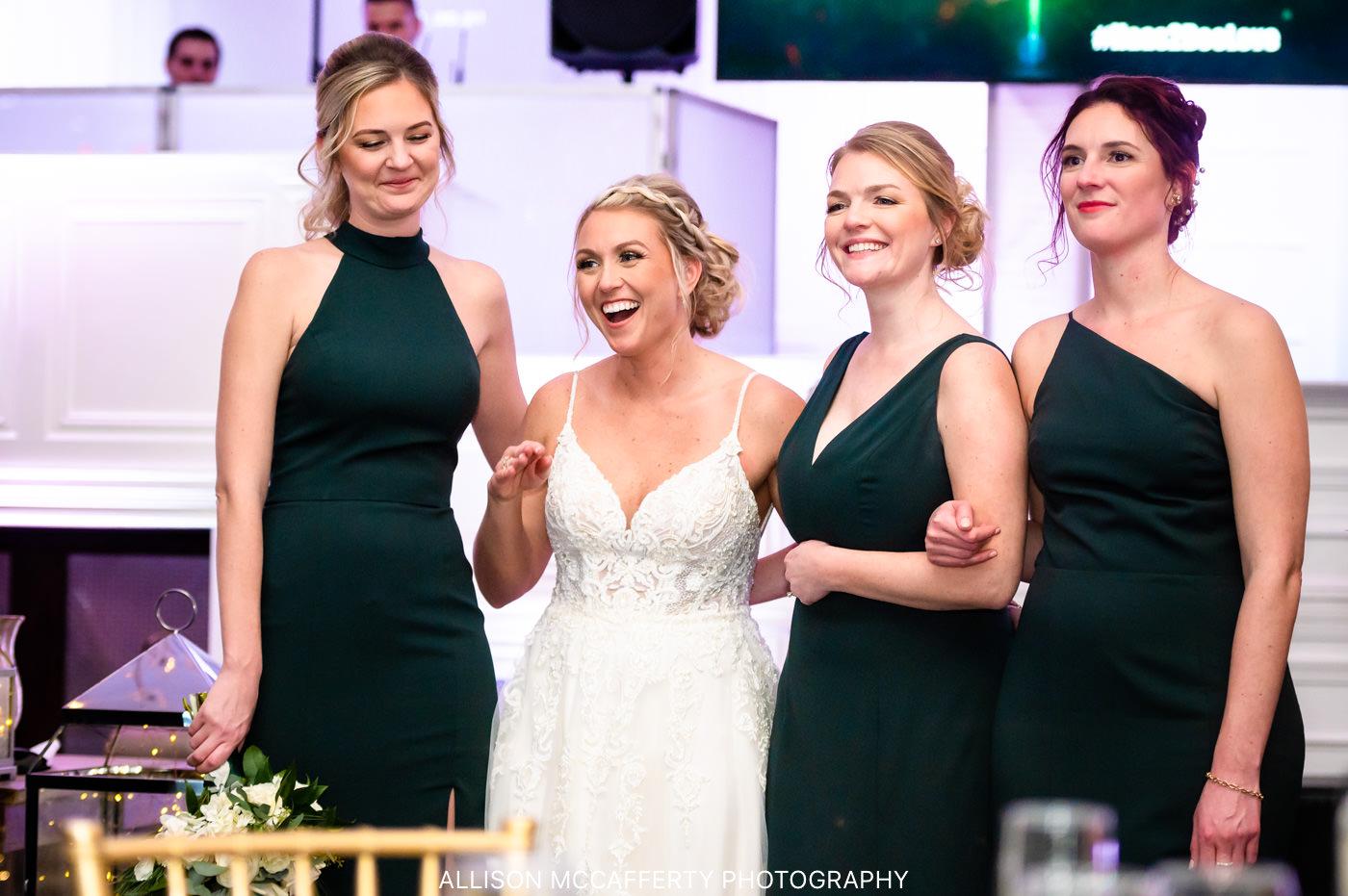 Bridesmaids photo at Hamilton Manor