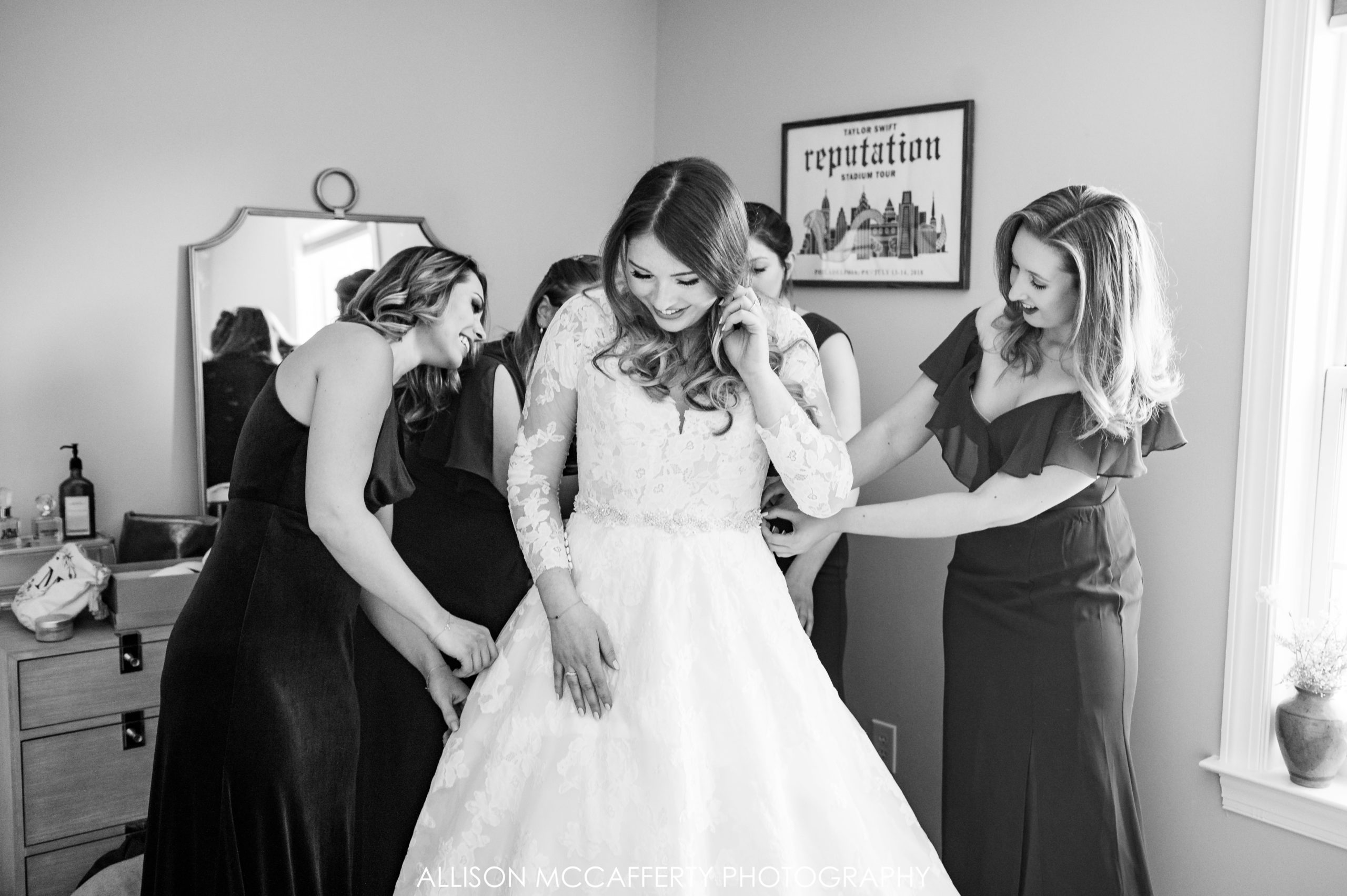 Wedding Day Photos in Black and White