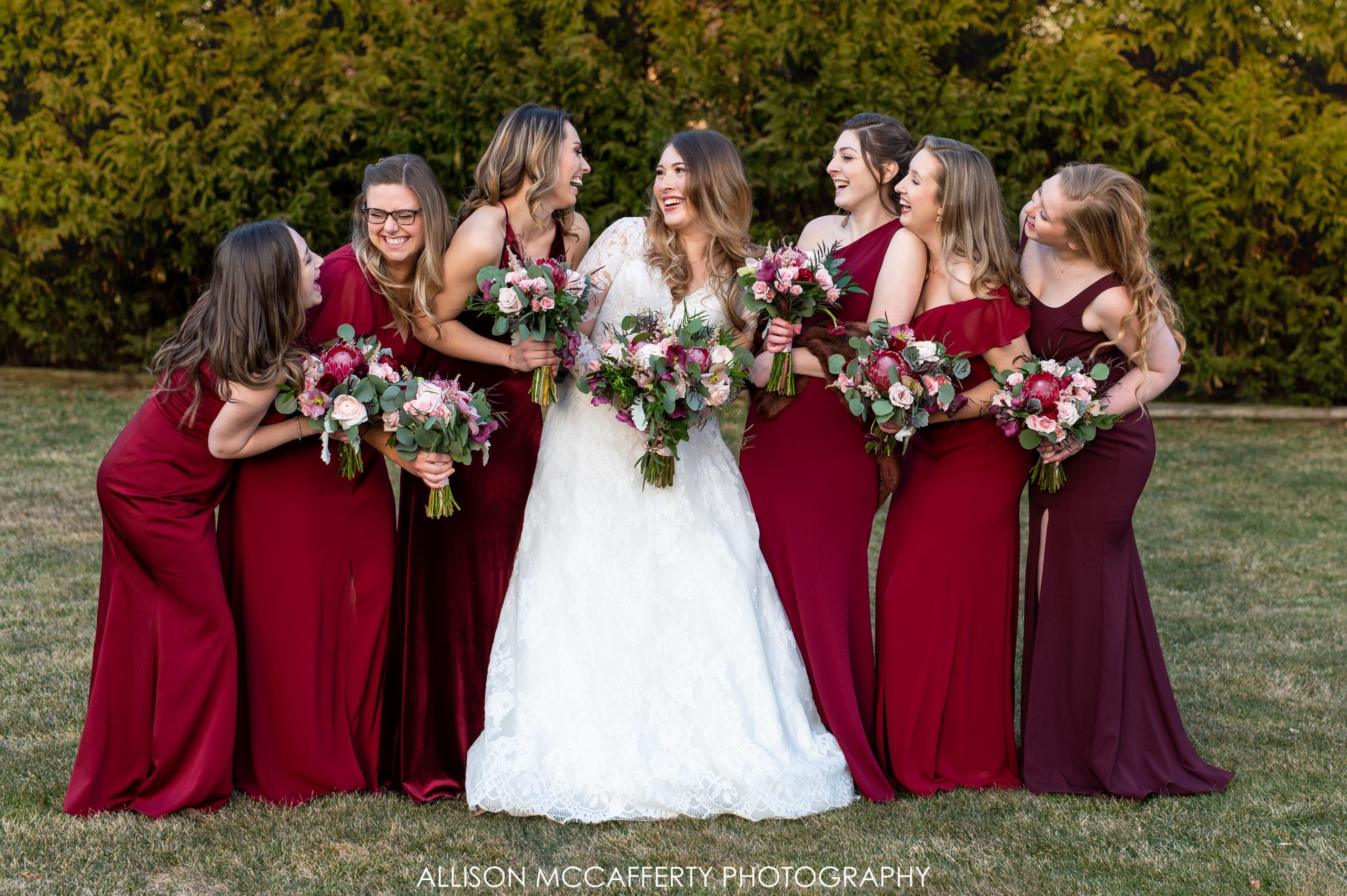 Red Bridesmaid Dress Photos