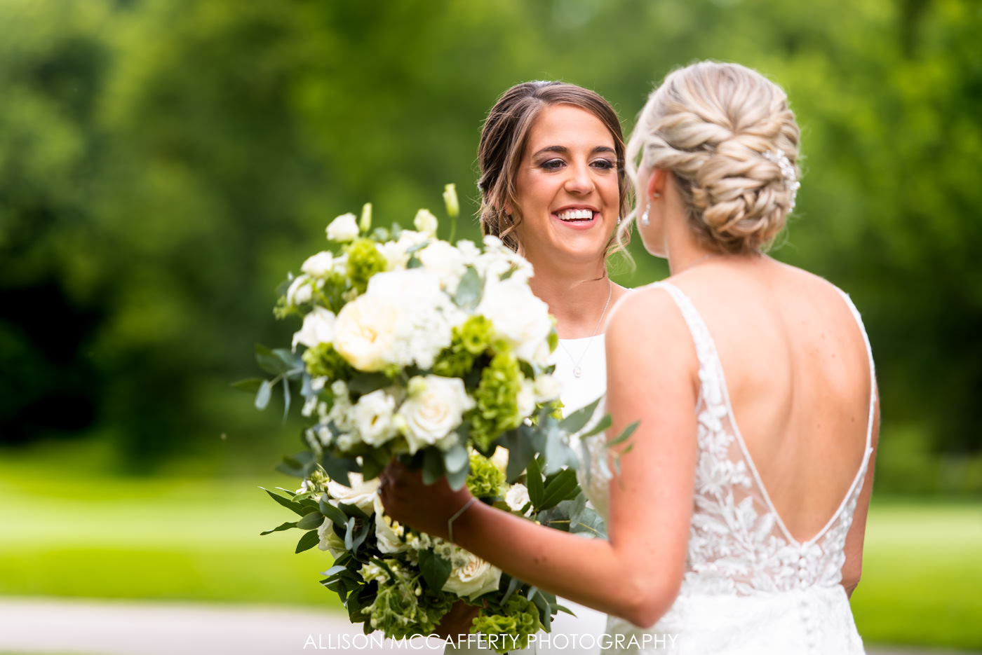 Two Bride Wedding Woodcrest Country Club